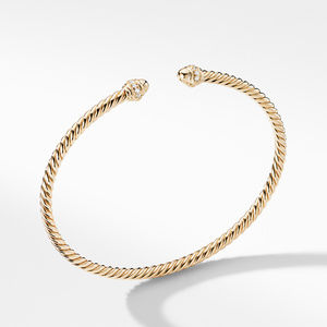 Cable Spira® Bracelet in 18K Gold with Diamonds