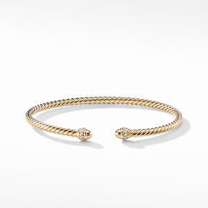 Cable Spira® Bracelet in 18K Gold with Diamonds, 3mm alternative image