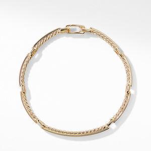 Petite Pavé Link Bracelet with Diamonds in 18K Gold alternative image