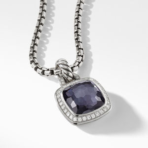 Albion® Pendant with Black Orchid and Diamonds alternative image
