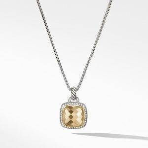 Pendant 18K Gold Dome and Diamonds