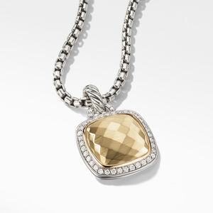 Pendant 18K Gold Dome and Diamonds alternative image