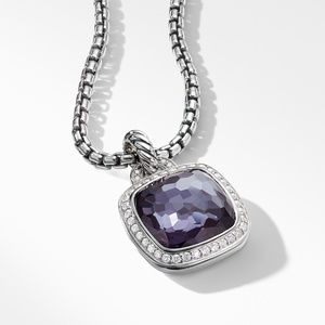 Pendant with Lavender Amethyst and Diamonds alternative image