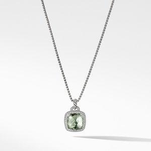 Pendant with Prasiolite and Diamonds