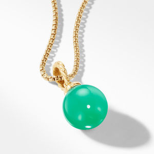 Pendant with Chrysoprase in 18K Gold alternative image