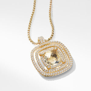 Chatelaine Pave Bezel Enhancer with Champagne Citrine and Diamonds in 18K Gold, 26mm alternative image