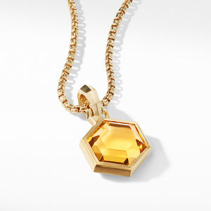 Hexagon Cut Amulet with Citrine in 18k Gold alternative image