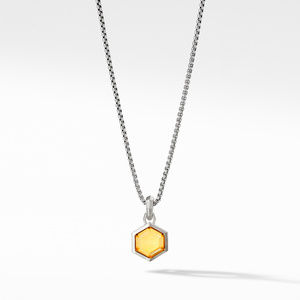 Hexagon Cut Amulet with Citrine