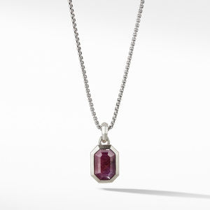 Emerald Cut Amulet with Indian Ruby