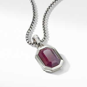 Emerald Cut Amulet with Indian Ruby alternative image