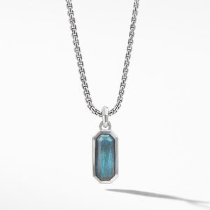 Emerald Cut Amulet with Labrodorite