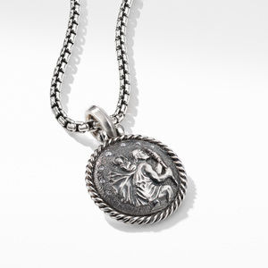 St. Christopher Amulet with Diamonds alternative image