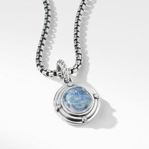 Moon Amulet in Rainbow Moonstone with Diamonds alternative image