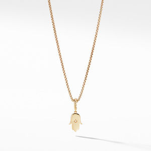 Hamsa Amulet with Diamonds in 18k Gold