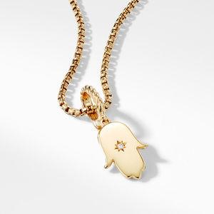 Hamsa Amulet with Diamonds in 18k Gold alternative image