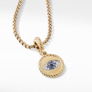 Evil Eye Aumlet with Diamonds and Blue Saphires in 18k Gold alternative image