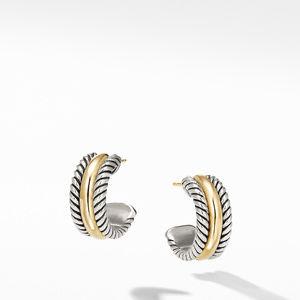 Hoop Earrings with Gold