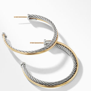 Hoop Earrings with 18K Gold alternative image