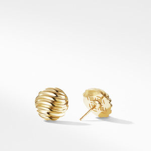 Sculpted Cable Earrings in Gold alternative image