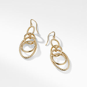 Mobile Small Link Earrings in 18K Yellow Gold alternative image