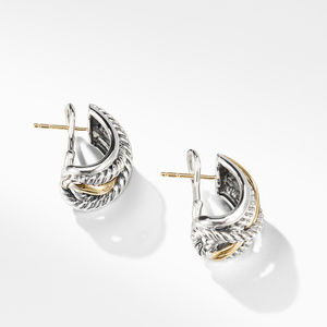 Crossover Earrings with Gold alternative image