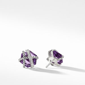 Earrings with Amethyst and Diamonds alternative image