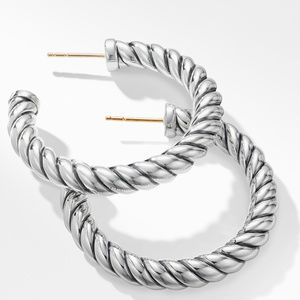 Cable Classics Hoop Earrings alternative image