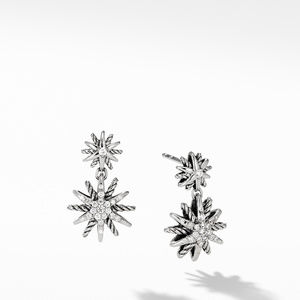 Starburst Double-Drop Earrings with Diamonds