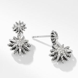 Starburst Double-Drop Earrings with Diamonds alternative image