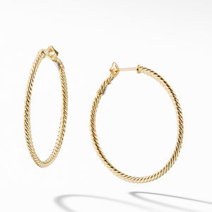Cable Classics  Hoop Earrings in Gold