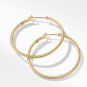 Cable Classics  Hoop Earrings in Gold alternative image
