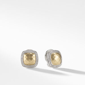 Albion Earrings with Gold Dome, Diamonds and 18K Gold