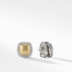 Albion Earrings with Gold Dome, Diamonds and 18K Gold alternative image