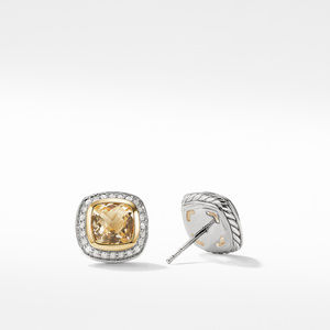 Earrings with Champgane Citrine and Diamonds with 18K Gold alternative image