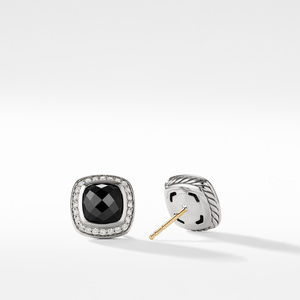 Earrings with Black Onyx and Diamonds alternative image