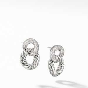 Belmont® Curb Link Drop Earrings with Diamonds