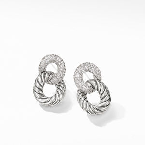 Belmont® Curb Link Drop Earrings with Diamonds alternative image