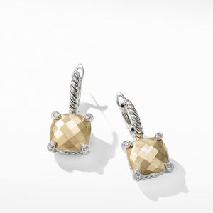 Chatelaine® Drop Earrings with 18K Gold and Diamonds, 11mm alternative image