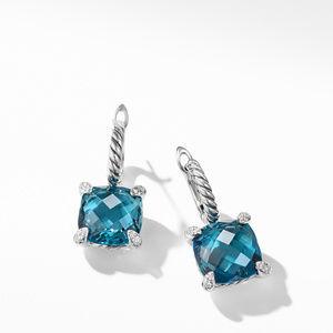 Drop Earrings with Hampton Blue Topaz and Diamonds alternative image