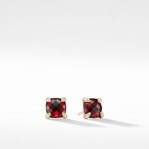 Earrings with Garnet in 18K Gold