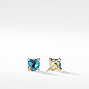 Chatelaine® Earrings with Hampton Blue Topaz in 18K Gold alternative image