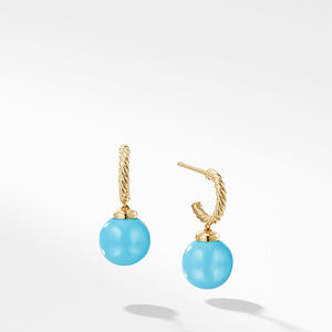 Hoop Earring with Turquoise in 18K Gold