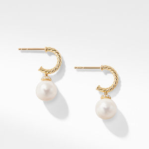 Solari Hoop Earrings with Diamonds and Pearls in 18K Gold alternative image