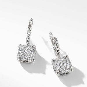 Drop Earrings with Diamonds alternative image