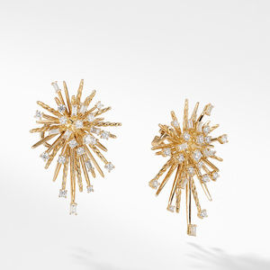 Supernova Climber Earrings with Diamonds in 18K Gold