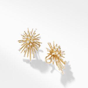Supernova Climber Earrings with Diamonds in 18K Gold alternative image