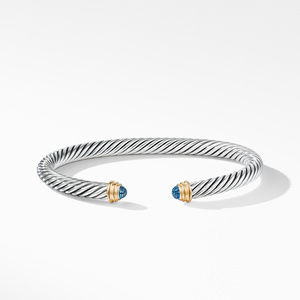 Cable Classics Bracelet with Blue Topaz and Gold alternative image