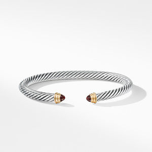 Cable Classics Bracelet with Garnet and Gold alternative image
