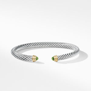 Cable Classics Bracelet with Peridot and Gold alternative image