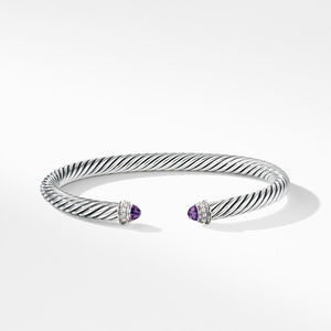 Cable Classics Bracelet with Amethyst and Diamonds, alternative image